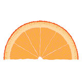 Oranje Plak royalty-vrije illustratie