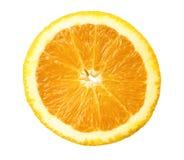 Oranje plak die op wit wordt geïsoleerdd Stock Afbeeldingen