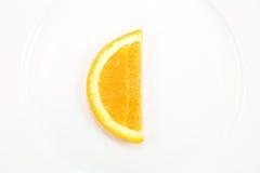 Oranje plak met de vorm van C Stock Afbeeldingen
