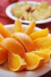 Oranje plakken Stock Afbeelding