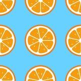 Oranje plakken naadloos patroon Vlakke voedseltextuur royalty-vrije stock fotografie
