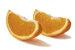 Oranje plakken op witte achtergrond Royalty-vrije Stock Afbeelding