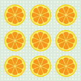 Oranje plakkenpatroon Vector illustratie Stock Foto