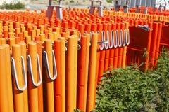 Oranje plank Royalty-vrije Stock Afbeeldingen