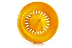 Oranje plastic citroenpers Royalty-vrije Stock Afbeeldingen