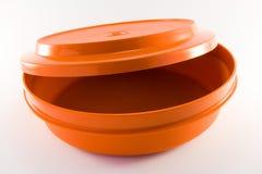 Oranje Plastic Container Royalty-vrije Stock Foto's