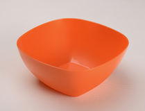 Oranje plastic diepe schotel Royalty-vrije Stock Afbeelding