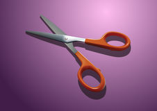Oranje Plastic Schaar Royalty-vrije Stock Foto