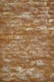Oranje Pleister op Oude Bakstenen muurtextuur Als achtergrond Stock Foto