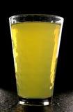 Oranje pompoen in glas Royalty-vrije Stock Foto