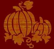 Oranje pompoen met rode achtergrond Royalty-vrije Stock Afbeelding