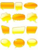 Oranje praatje Stock Foto