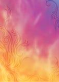 Oranje purpere vlammen Stock Afbeelding
