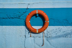 Oranje Reddingsboei Stock Afbeeldingen