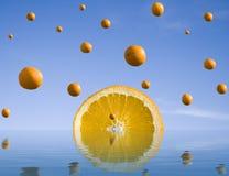 Oranje regen stock fotografie