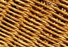 Oranje Rieten mand gevlechte textuur royalty-vrije stock afbeelding