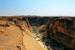Oranje river canyon. And stone desert Royalty Free Stock Photo
