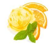 Oranje roomijs Royalty-vrije Stock Afbeeldingen