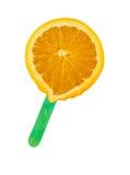 Oranje roomijs Stock Foto's