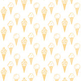 Oranje roomijs vector naadloos patroon De zomerinzameling Stock Afbeeldingen