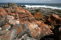 Oranje rotsen Stock Foto's