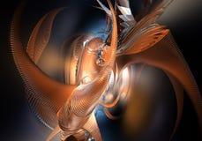 Oranje ruimtestijl (samenvatting) Stock Fotografie