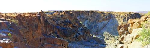 Oranje rzeki krajobraz i kamień pustynia Obraz Stock