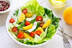 Oranje salade stock foto's