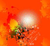 Oranje samenvatting als achtergrond stock illustratie