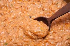 Oranje saus Stock Fotografie