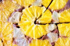 Oranje scherp, cake, dessert Stock Afbeeldingen