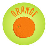 Oranje schets vectorillustratie Stock Afbeeldingen