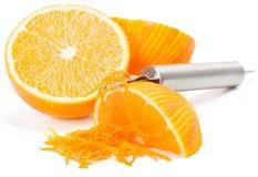 Oranje schil Stock Afbeeldingen