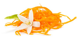 Oranje schil royalty-vrije stock foto's