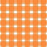 Oranje Schots patroon Stock Afbeeldingen