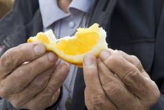 Oranje segment stock foto's