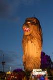 Oranje Sentosa-merlion Royalty-vrije Stock Fotografie