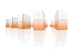 Oranje servers vector illustratie