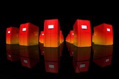 Oranje servers stock illustratie