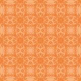 Oranje Sier Naadloos Lijnpatroon Stock Afbeelding