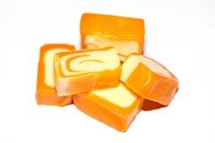 Oranje snoepjes royalty-vrije stock foto's