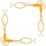 Oranje Spiraalvormige Hoeken Royalty-vrije Stock Afbeelding