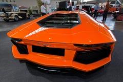 Oranje sportwagen Stock Foto