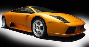Oranje sportwagen Stock Fotografie