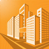 Oranje stad Royalty-vrije Stock Afbeeldingen