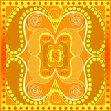 Oranje StammenPatroon Stock Fotografie