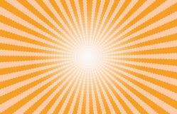 Oranje Starburst-Effect achtergrond Stock Foto