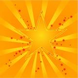Oranje sterren Stock Foto