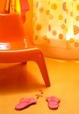 Oranje stoel Royalty-vrije Stock Afbeelding
