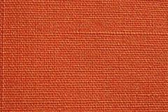 Oranje Stoffentextuur Stock Afbeelding